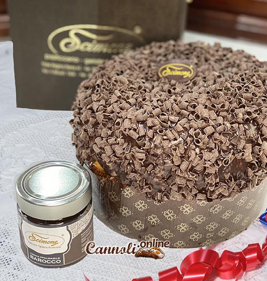 Panettone artigianale al cioccolato fondente